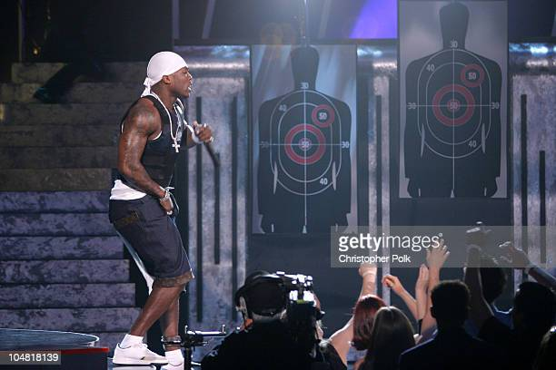 50 Cent during 2003 MTV Movie Awards Show at The Shrine Auditorium in Los Angeles California United States