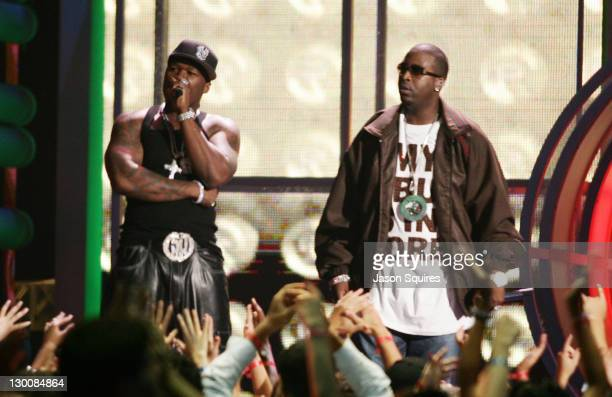 50 Cent during 2005 MTV Video Music Awards Show at American Airlines Arena in Miami Florida United States