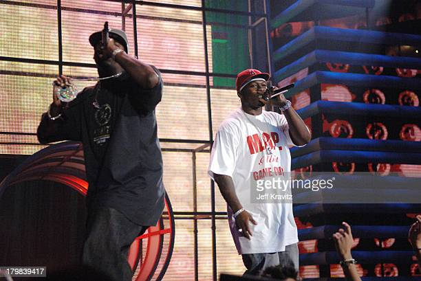 50 Cent during 2005 MTV VMA Rehearsals Day 2 at American Airlines Arena in Miami Florida United States