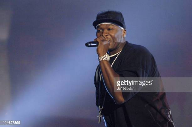50 Cent during 2005 Spike TV Video Game Awards Show at Gibson Amphitheater in Universal City California United States