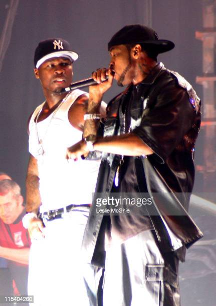 50 Cent during 50 Cent in Concert at the Wembley Arena in London October 16 2005 at Wembley Arena in London Great Britain