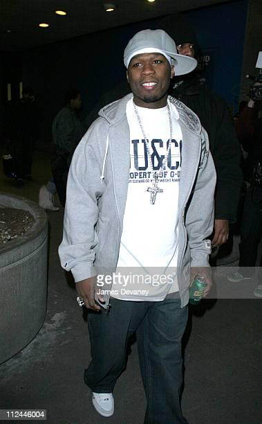 50 Cent during 50 Cent Visits MTV's 'TRL' February 1 2005 at MTV Studios Times Square in New York City New York United States