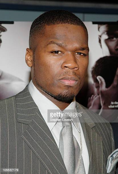 50 Cent during GQ Hosts a Special Screening of 'Get Rich or Die Tryin' Inside Arrivals at Loews 19th Street East Theatre in New York City New York...