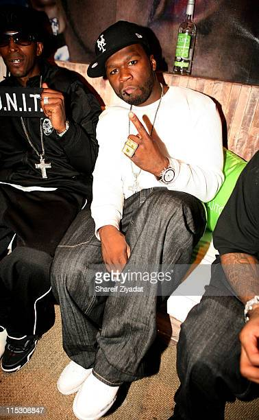 50 Cent during Lloyd Banks Celebrates the Release of his New Album 'Rotten Apple' at Nikki Beach in New York City New York United States