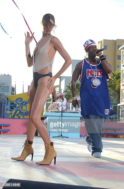50 Cent during MTV's 2003 Spring Break 'Fashionably Loud' at Double Tree Surfcomber Hotel in Miami Florida United States