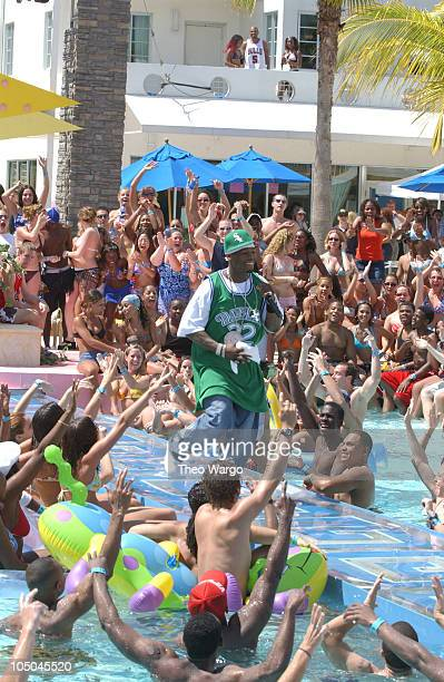 50 Cent during MTVs 2003 Spring Break MTV Invades Miami Taping at Double Tree Surfcomber Hotel in Miami Florida United States