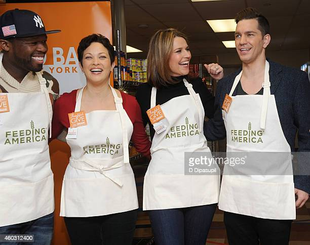 50 Cent Ellie Krieger Savannah Guthrie and Andy Grammer attend Feeding America Hosts BiCoastal Celebrity Volunteer Event at the Food Bank For New...