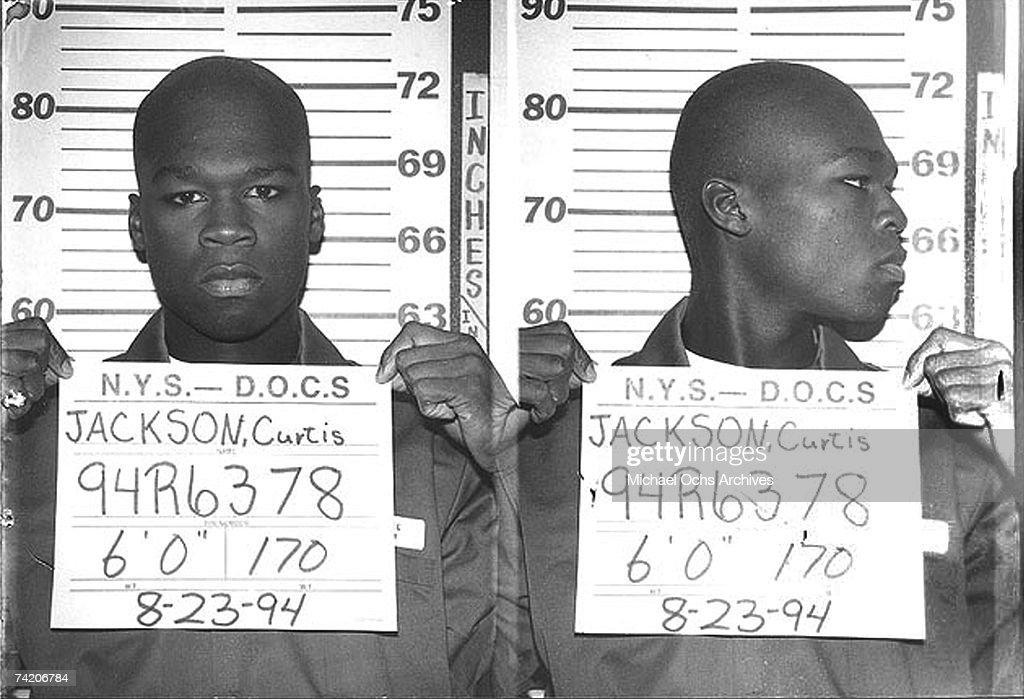 Rapper 50 Cent Has His Mug Shot Taken : News Photo