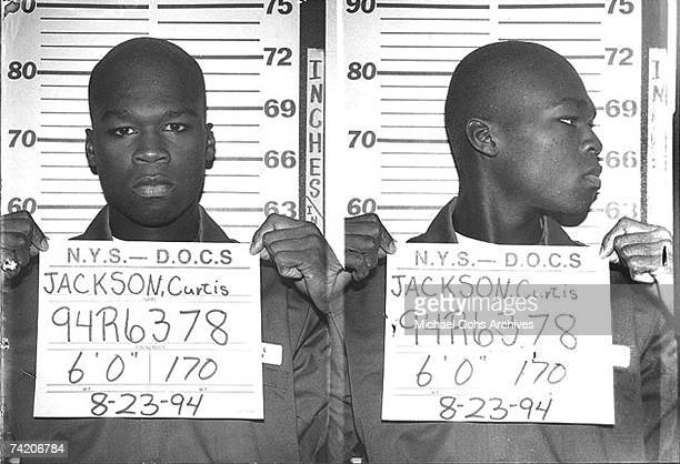 Cent has his mug shot taken while serving time in a New York State Department of Correctional Services shock incarceration program on August 23 1994...