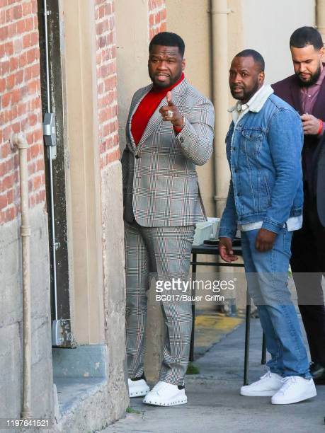 Cent is seen arriving at 'Jimmy Kimmel Live' Show on January 30, 2020 in Los Angeles, California.