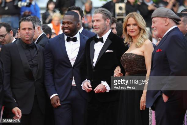 50 Cent John Travolta Kelly Preston and Stacy Keach attend the screening of 'Solo A Star Wars Story' during the 71st annual Cannes Film Festival at...
