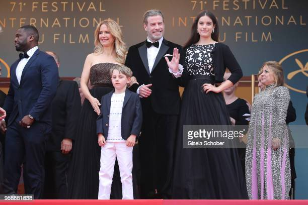 Cent Kelly Preston Benjamin Travolta John Travolta and Ella Travolta attend the screening of Solo A Star Wars Story during the 71st annual Cannes...