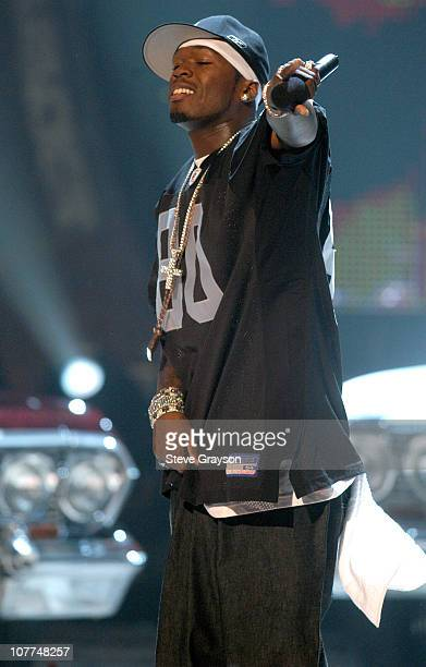 50 Cent performance during The 3rd Annual BET Awards Show at The Kodak Theater in Hollywood California United States
