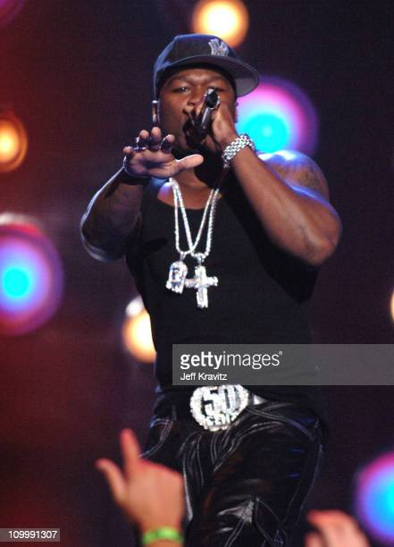 50 Cent performs a medley of Disco Inferno Outta Control and So Seductive