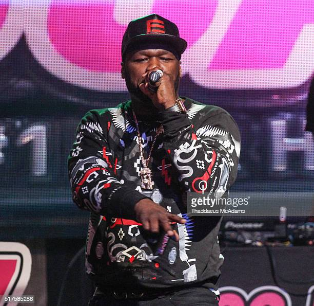 Cent performs at 99 Jamz presents 50 Cent Uncensored at Revolution on March 25 2016 in Fort Lauderdale Florida