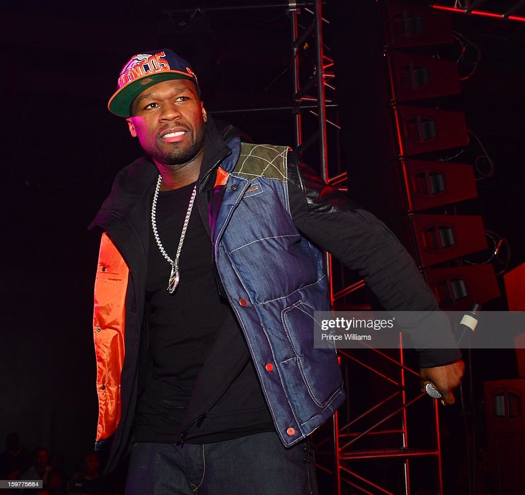 50 Cent performs at the AG Entertainment Presents Jeezy Inauguration Weekend on January 20, 2013 in Washington, United States.