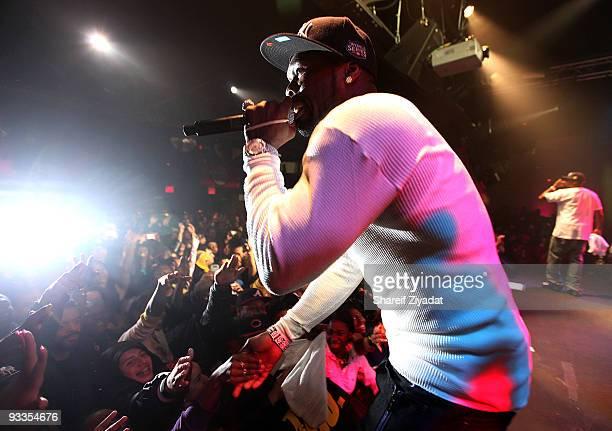 Cent performs at the Highline Ballroom on November 23, 2009 in New York City.