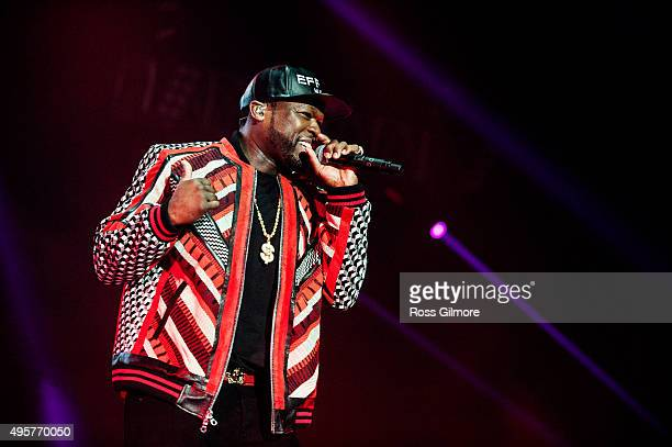 Cent performs at The SSE Hydro on November 4, 2015 in Glasgow, Scotland.