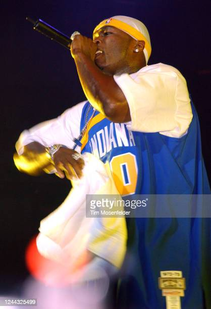 Cent performs during Wild 94.9's The Bomb at HP Pavilion on May 15, 2003 in San Jose, California.