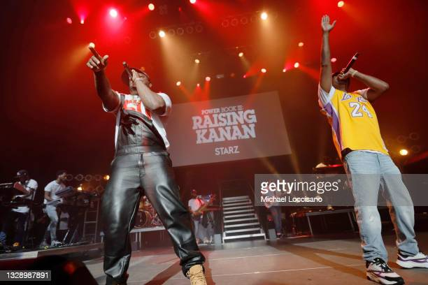 Cent performs onstage during the 'Power Book III: Raising Kanan' global premiere event and screening at Hammerstein Ballroom on July 15, 2021 in New...