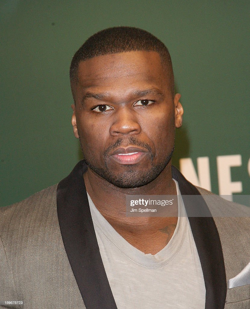 50 Cent promotes 'Formula 50: A 6-Week Workout and Nutrition Plan That Will Transform Your Life' at Barnes & Noble, 5th Avenue on January 16, 2013 in New York City.