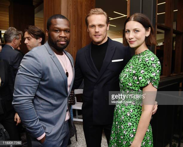 Cent, Sam Heughan and Caitriona Balfe attend Starz FYC 2019 — Where Creativity, Culture and Conversations Collide on June 02, 2019 at Westfield...
