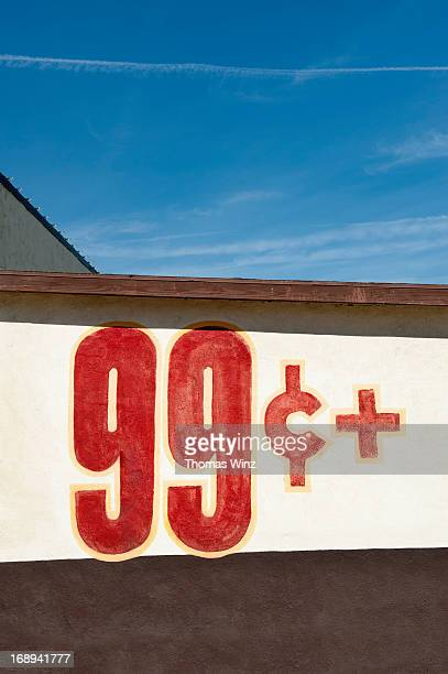 99 Cent sign