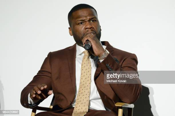 Cent speaks at STARZ 'POWER' FYC Event at The Jeremy Hotel on May 3 2018 in West Hollywood California