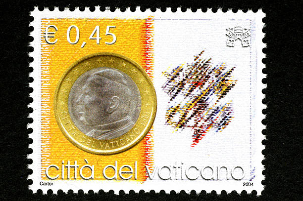 A 45 Cent Stamp Issued By The Vatican City In Rome Italy T