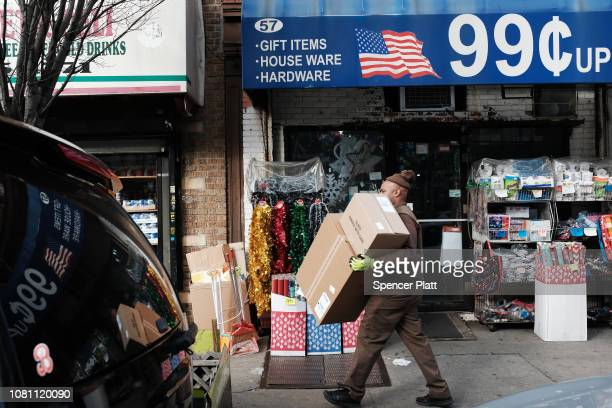 A 99 cent store stands on December 11 2018 in the Brooklyn borough of New York City As the income gap between rich and poor continues to grow dollar...