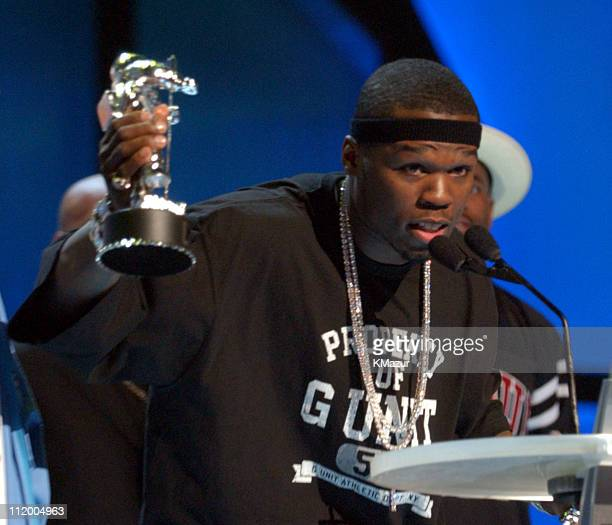 50 Cent winner of Best New Artist and Best Rap Video at the 2003 MTV Video Music Awards