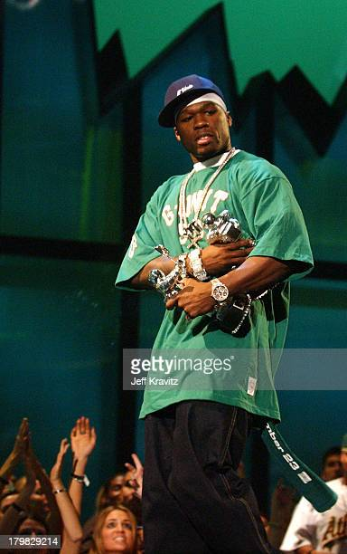 50 Cent winner of Best New Artist In A Video and Best Rap Video at the 2003 MTV Video Music Awards