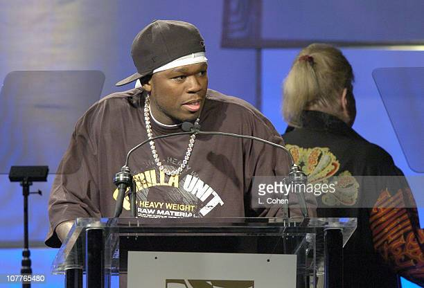 50 Cent winner of Top RB/HipHop Song and Top Rap Song
