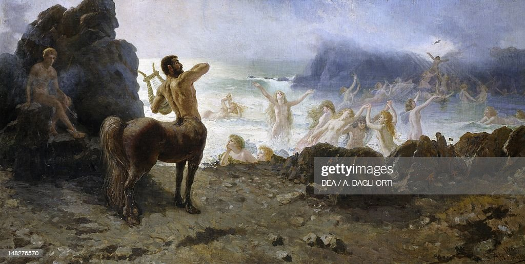Centaur Chiron attempting freedom, by Francesco Saverio Altamura (1826-1897). (Photo by DeAgostini/Getty Images) : News Photo