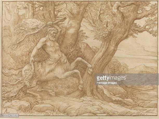 Centaur with Branches. Artist Alphonse Legros.