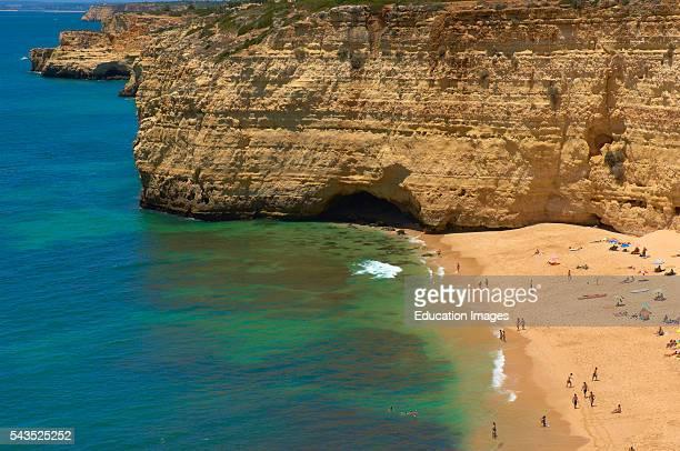 Centeanes Beach Praia do Centeanes Vale do Centeanes Carvoeiro Lagoa Algarve Portugal Europe