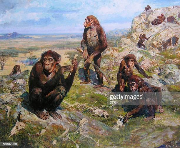 """Centenario del pintor Zdenek Burian, gran viajero de lo imaginario"""" Foto de una ilustracion de 1952 del pintor e ilustrador checo Zdenek Burian,..."""