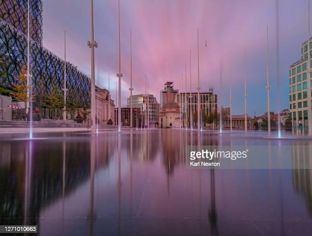 centenary square birmingham 2020 sunset - birmingham england stock pictures, royalty-free photos & images