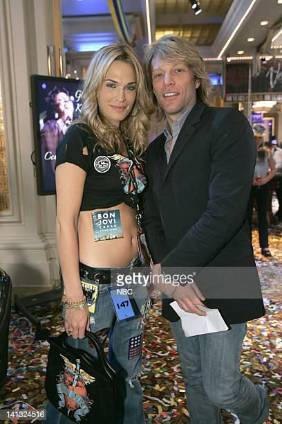 LAS VEGAS Centennial Episode 24 Pictured Molly Sims as Delinda Deline Jon Bon Jovi as Himself Photo By Byron Cohen/NBC/NBCU Photo Bank