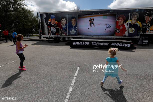 Centennial Fan Arena Clear the Ice Zamboni® Experience, Stanley Cup® viewing at the BB&T Center on March 4, 2017 in Sunrise, Florida.