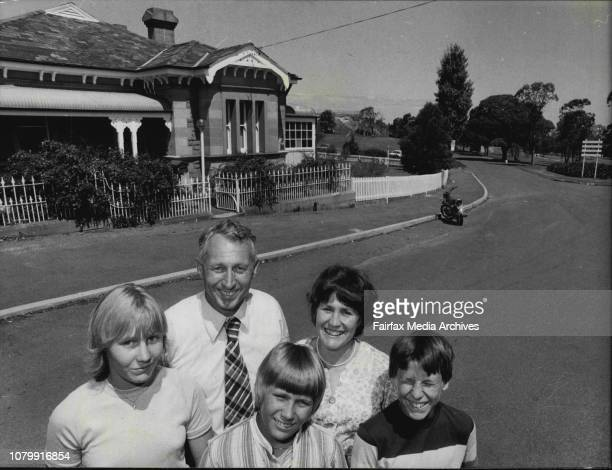 Centennial Park Superintendent Mr R Salkeld with his wife Monica and children Robyn Ian and Warren They were photographed today at Centennial Park...