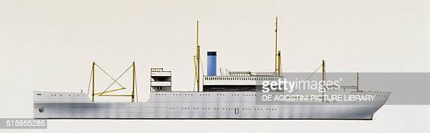 Centennial State cargo ship United States of America drawing