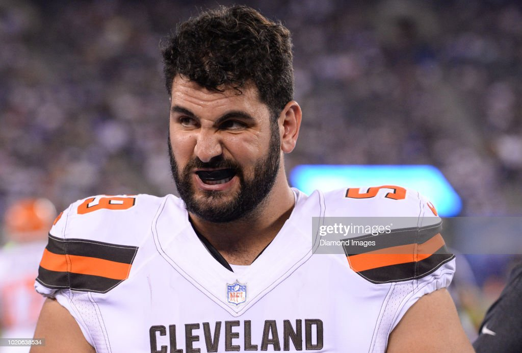 buy popular 88fa8 03ace Center Anthony Fabiano of the Cleveland Browns walks along ...