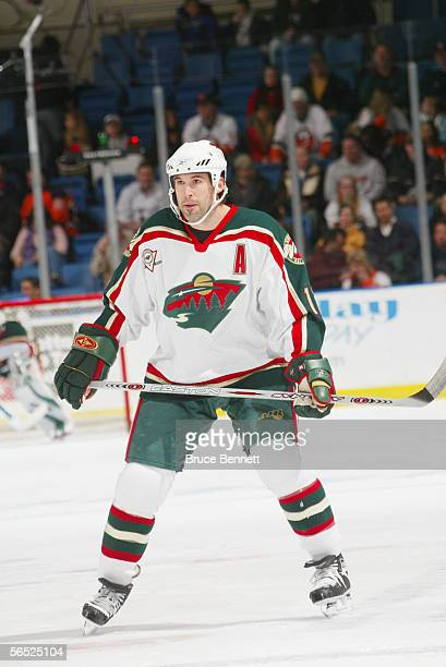 Center Brian Rolston of the Minnesota Wild looks on against the New York Islanders at the Nassau Coliseum on December 13, 2005 in Uniondale, New...