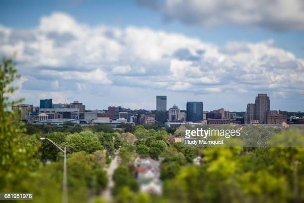 center city - grand rapids, michigan - michigan stock pictures, royalty-free photos & images