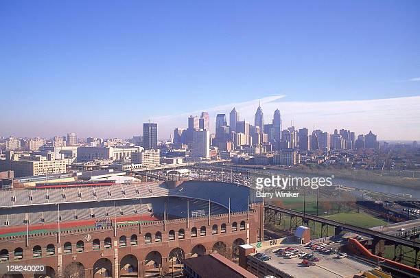 Center City skyline & Franklin Field, Philadelphia, PA