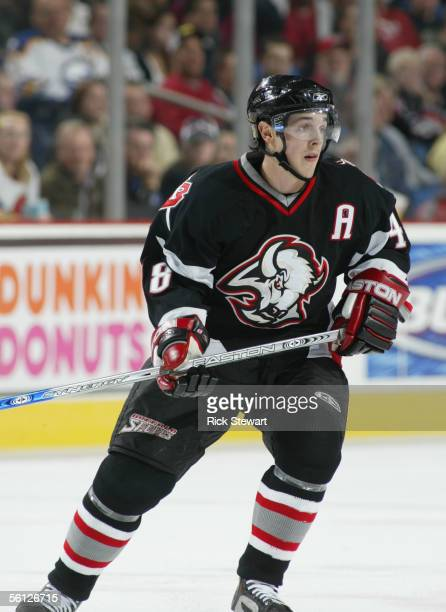 Center Daniel Briere of the Buffalo Sabres skates on the ice during the game against the Ottawa Senators on November 2 2005 at HSBC Arena in Buffalo...