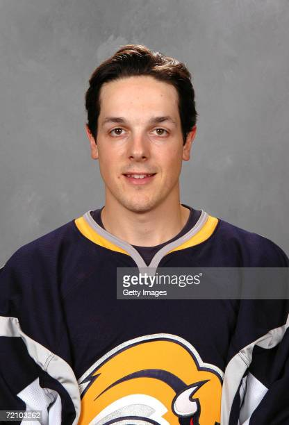 Center Daniel Briere of the NHL Buffalo Sabres poses for a portrait at HSBC Arena on September 14 2006 in Buffalo New York