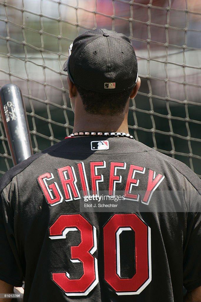 cheaper 05bab 3a21a Center fielder Ken Griffey, Jr of the Cincinnati Reds ...