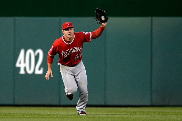 Mike Trout of the Los Angeles Angels